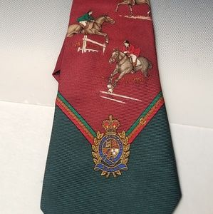 Polo by Ralph lauren show jumping rider horse tie